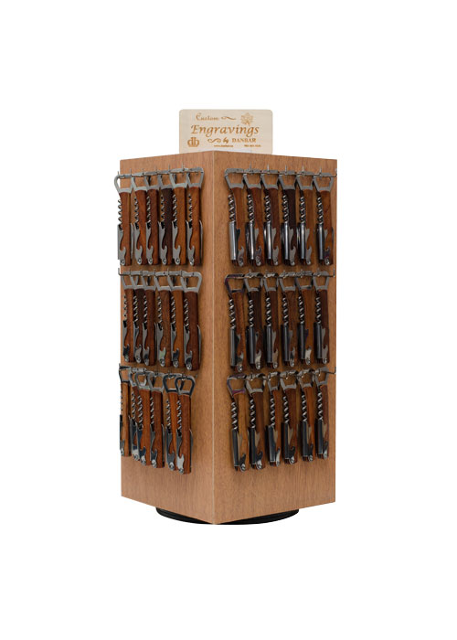 Rosewood Opener and Wine Tool Small Display from Danbar Distribution