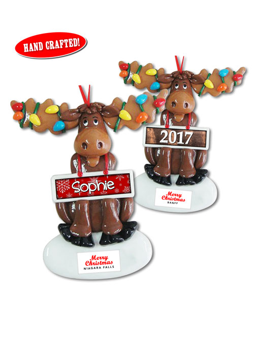 Personalized Moose Ornament from Danbar Distribution