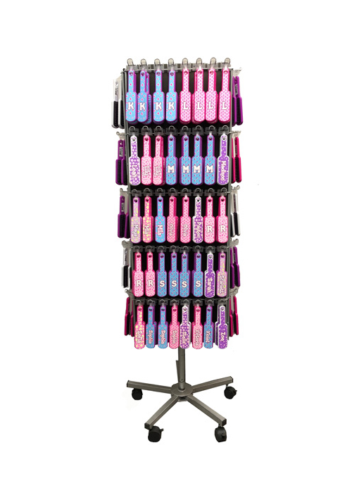 Personally-Yours Glitter Hairbrush Display